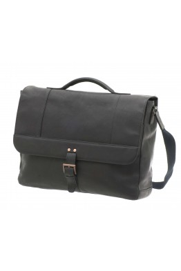450 033 DAVIDT'S LEYDEN Leather laptop briefcase for 15""
