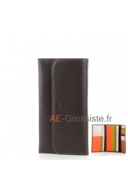 Leather Oragnizer Wallet multicolor Fancil FA903