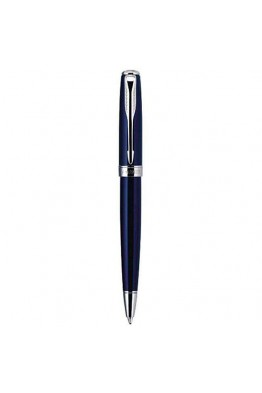 Stylo à bille Parker Sonnet Mini bleu marine laqué attribut chrome