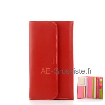 Portefeuille compagnon multicolor Fancil FA903 Rouge
