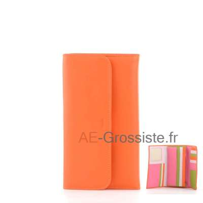 Portefeuille compagnon multicolor Fancil FA903 Orange