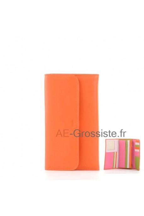 Portefeuille compagnon multicolor Fancil FA903 Orange