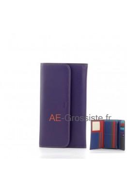 Leather Oragnizer Wallet multicolor Fancil FA903