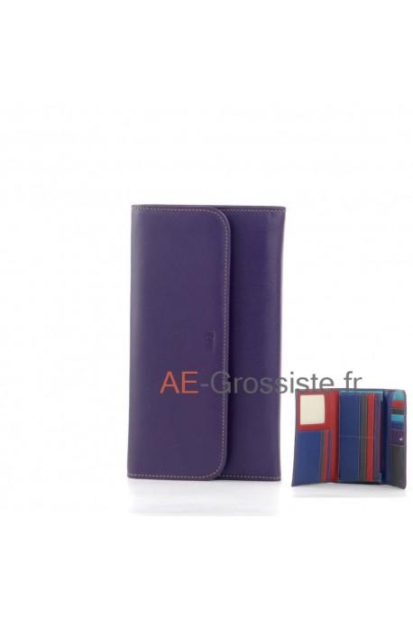 Portefeuille compagnon multicolor Fancil FA903 Violet