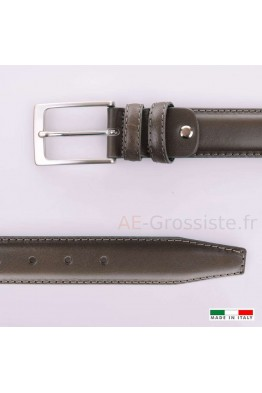 MV200 Leather Belt - Dark gray