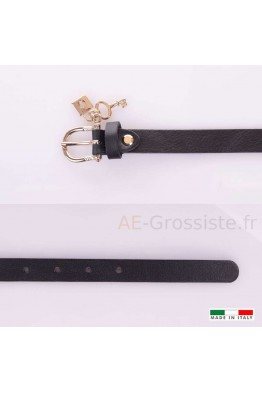 23337 Women's leather Belt - Black