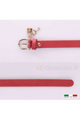 23337 Women's leather Belt - Red