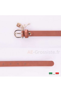 23337 Women's leather Belt - Camel