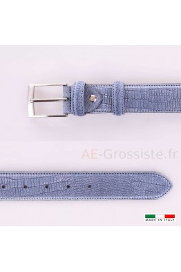 F531 Leather Belt - Blue