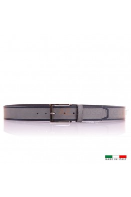 F568 GB Leather Belt - Gray