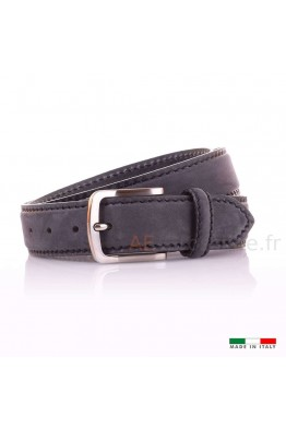 F557 Leather belt - Black