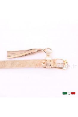 13294 Women's leather Belt - Golden