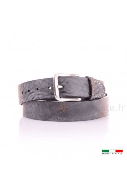 13579 leather belt Gray