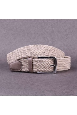KJ P002 Elastic braided belt - Beige