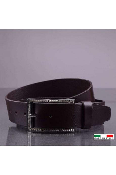 NOS003/35 CEINTURE EN CUIR PLEINE FLEUR - Noir
