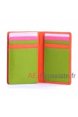 Leather Card Holder cuir multicolor Fancil FA912