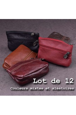 G180 Leather purse pack of 12