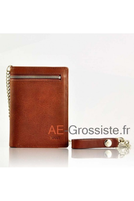 Leather chain Wallet cuir Spirit 6549