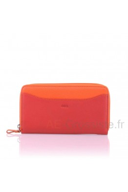 Leather organizer wallet multicolor Fancil A8815