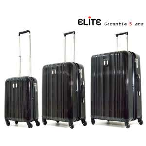 Lot de 3 Valise trolley Polycarbonate Shield Apollo 25000 Noir