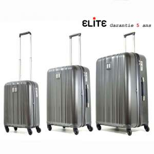 Lot de 3 Valise trolley Polycarbonate Shield Apollo 25000 Gris