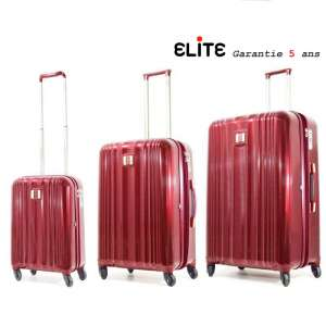 Lot de 3 Valise trolley Polycarbonate Shield Apollo 25000 Bordeaux