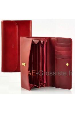 Compagnon femme cuir Spirit 6614 Rouge