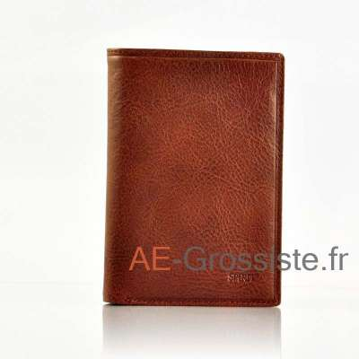 Portefeuille cuir Spirit 6805 Marron