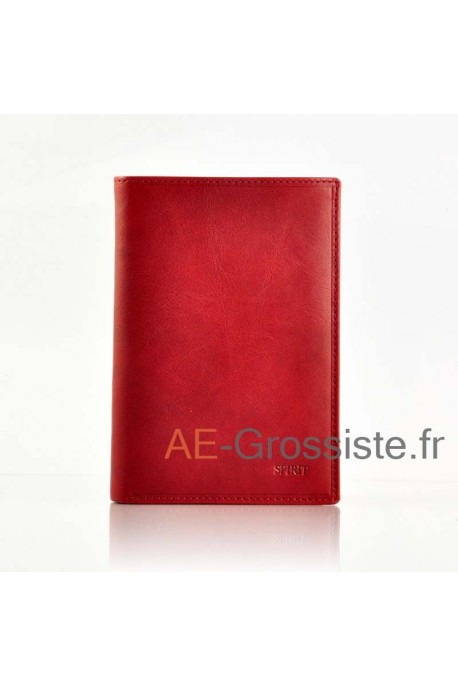 Portefeuille cuir Spirit 6805 Rouge
