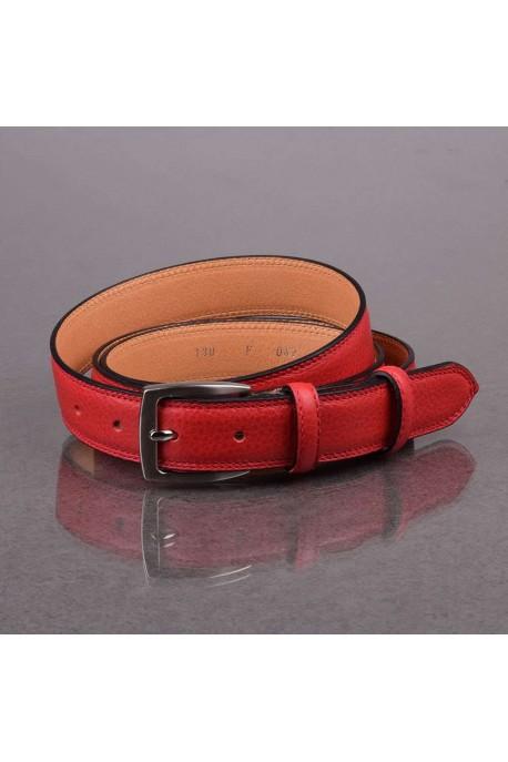 italian F047 red leather belt