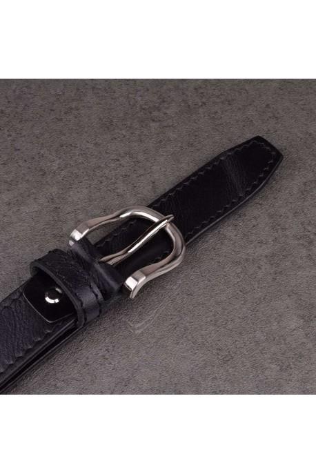 italian NOS013 black leather belt