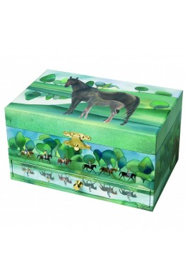 S60620 Children's musical box with horses