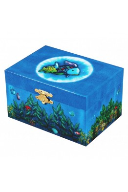 S91066 Children's musical box with fishes