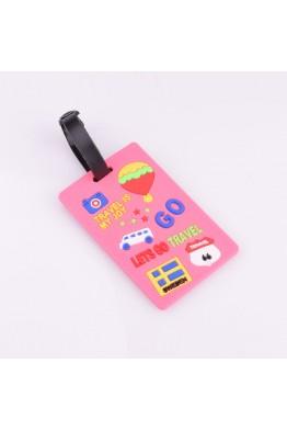 pink lets go edb001 suitcase etiquette
