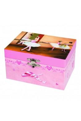 s50917 Coffret Musical Danseuse en Tutu - Rose - Figurine Ballerine
