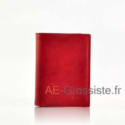 Portefeuille cuir Spirit 6855 Rouge