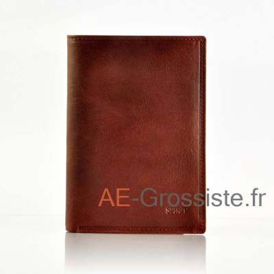 Portefeuille cuir Spirit 6881 Marron