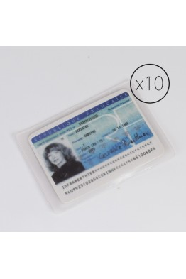 PL003 Set of 10 ID card protection