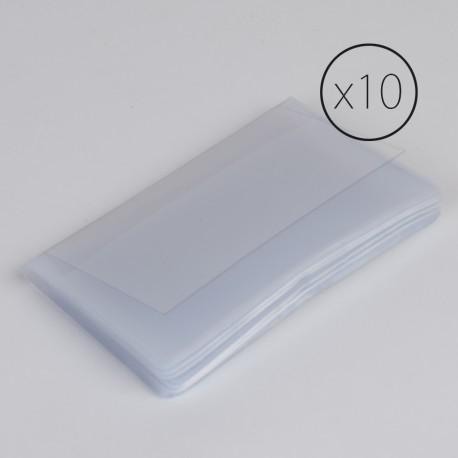 PL004 paquet de 10 étui plastique pour cartes