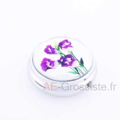 Boîte à pilule motif Fleur