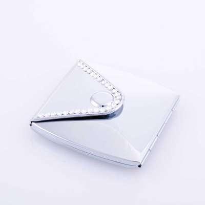 Miroir de poche décoration strass