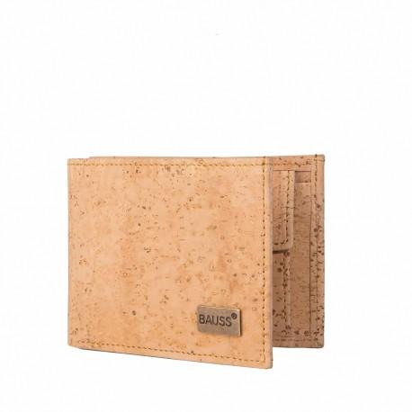 B433SS Portefeuille format italien en liège BAUSS®