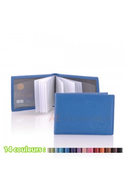 "Leather card holder SF6006B ""La Sellerie Française"""