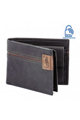 LUPEL AGRESTE L632AG Portefeuille en cuir Protection RFID