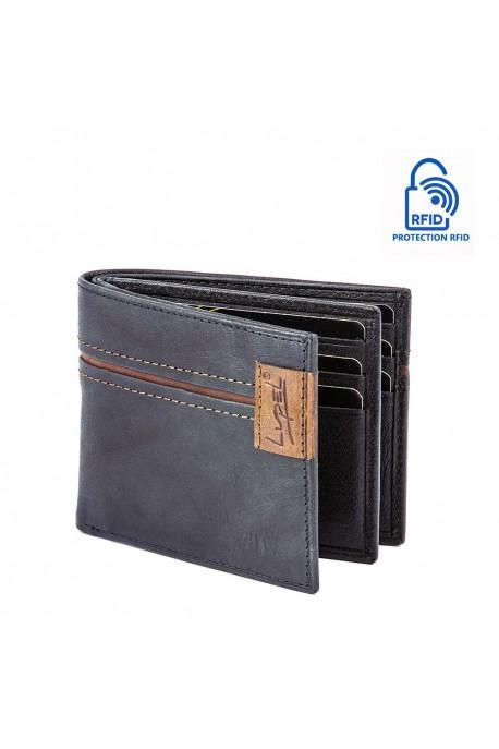 LUPEL AGRESTE L638AG Portefeuille en cuir Protection RFID