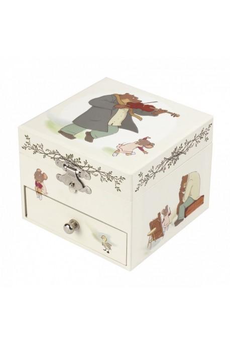 """Boîte musique Trousselier cube tiroir""""Panda"""" S 20603"""
