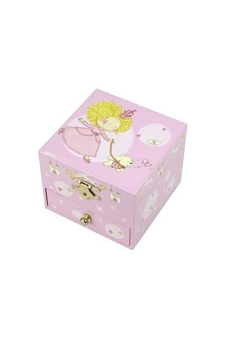 S20701 Trousselier Coffret Musique Cube Princesse et Son Chien