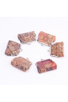 JK908-10 porte-monnaie en liège paquet de 12pcs