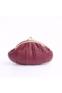 Leather clasp coin purse - 1028