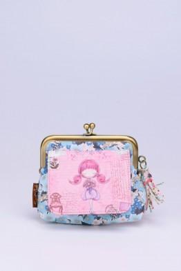 C-063-3 Porte-monnaie à fermoirs synthétique Sweet & Candy